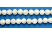 Perles en pierres nacre 3mm - Fil de 40 Centimetres
