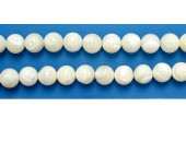 Perles en pierres nacre 8mm - Fil de 40 Centimetres