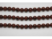 Perles en pierres obsidienne mahagony 10mm - Fil de 40 Centimetres