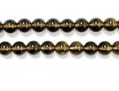 Perle pierre Quartz fume 8mm - Fil de 40 Centimetres