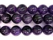 Perle ronde amethyste 16mm - Fil de 40 Centimetres