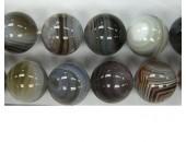 Perle ronde agate botswana 12mm - Fil de 40 Centimetres