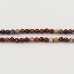Perles Facettes Jaspe Breciated 2mm