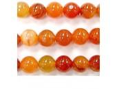Perle cornaline madagasca 12mm - Fil de 40 Centimetres