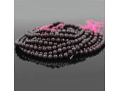 Perles en pierre grenat 2mm