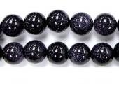 Perles pierre gold stone bleu 3mm