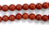 Perles en pierres jaspe rouge 3mm