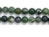 Perle Agate Mousse 10mm - Fil de 40 Centimetres