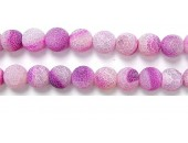 perle agate antique look rose 16mm - Fil de 40 Centimetres