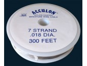 Fil acier gaine nylon 0.40mm / 100 metres