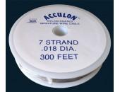 Fil acier gaine nylon 0.50mm / 100 metres