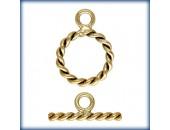 1 Fermoir ''Toggle'' Twist 9mm fil 1.3mm 1/20 14K Gold Filled