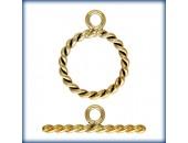 1 Fermoir ''Toggle'' Twist 11mm fil 1.3mm 1/20 14K Gold Filled