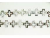 Croix Ajourée 'BLACK LIP' 20mm
