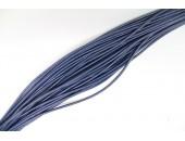 25 Mts lacet cuir bleu pacific 1mm