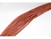 25 Mts lacet cuir cuivre 2mm