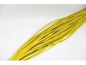 25 Mts lacet cuir jaune 2mm