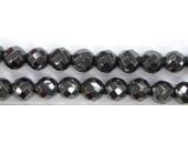 Perles Facettes Hematite 12mm