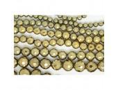 Perles Facettes Hematite Couleur Pyrite 12mm