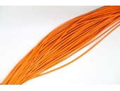 25 Mts lacet cuir orange 2mm