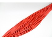 25 Mts lacet cuir rouge 2mm
