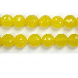 Perle facettes Aventurine jaune 4mm - Fil de 40 Centimetres