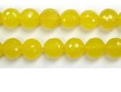 Perle facettes Aventurine jaune 10mm - Fil de 40 Centimetres