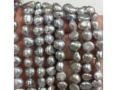 Perles d'Eau Douce Baroques Grises Ø 8/9mm