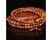108 Perles Bois Exotique ''Flower Nanmu Wood'' 6mm