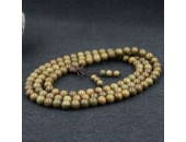 108 Perles Bois Exotique ''Green Sandawood'' 6mm