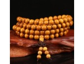 108 Perles Bois Exotique ''Golden Wood'' 6mm