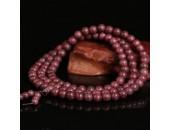 108 Perles Bois Exotique '' Violet wood'' 6mm
