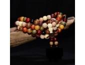 108 Perles Bois Exotique ''Multi Wood'' 8mm