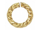 36 Anneaux Ronds 4.0mm Ouverts ''Sparkle'' Fil 0.76mm 1/20 14K Gold Filled