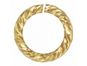24 Anneaux Ronds 5.0mm Ouverts ''Sparkle'' Fil 0.76mm 1/20 14K Gold Filled