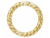 12 Anneaux Ronds 6.8mm Ouverts ''Sparkle'' Fil 0.89mm 1/20 14K Gold Filled
