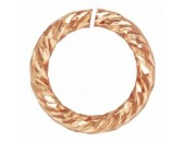 24 Anneaux Ronds 5.0mm Ouverts ''Sparkle'' Fil 0.76mm 1/20 14K Rose Gold Filled
