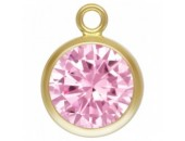Zircon 6.0mm Rose serti 1 Anneau 1/20 14KT Gold Filled
