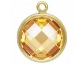 Zircon 4.0mm Champagne serti 1 Anneau 1/20 14KT Gold Filled