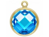 Zircon 4.0mm Bleu Aigue serti 1 Anneau 1/20 14KT Gold Filled