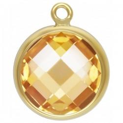 Zircon 8.0mm Champagne serti 1 Anneau 1/20 14KT Gold Filled