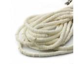 Rondelles ''Heishi'' Blanc 6mm
