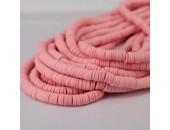 Rondelles ''Heishi'' Rose pale 4mm