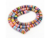 Rondelles ''Heishi'' Multicolor 1 6mm
