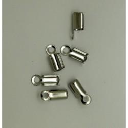 100 Embouts lacet Acier Inoxydable 9.5x5x4.5mm Acier Inoxydable