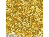 10 Grs MIYUKI Quart TILA Doré Opaque Brillant Metalisé