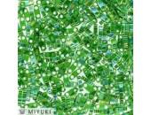 25 Grs MIYUKI Quart TILA Vert Emeraude A/B Transparent Brillant