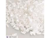 25 Grs MIYUKI Quart TILA Blanc Opaque Brillant Lustré