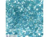 25 Grs MIYUKI Quart TILA Bleu Canard A/B Transparent Mat