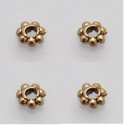 250 rondelles metal doré antique 4.5x1.5mm